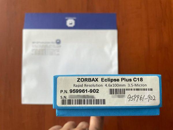 هیرسا - ستون اجیلنت Agilent 959961-902 از سری ZORBAX RR Eclipse Plus C18